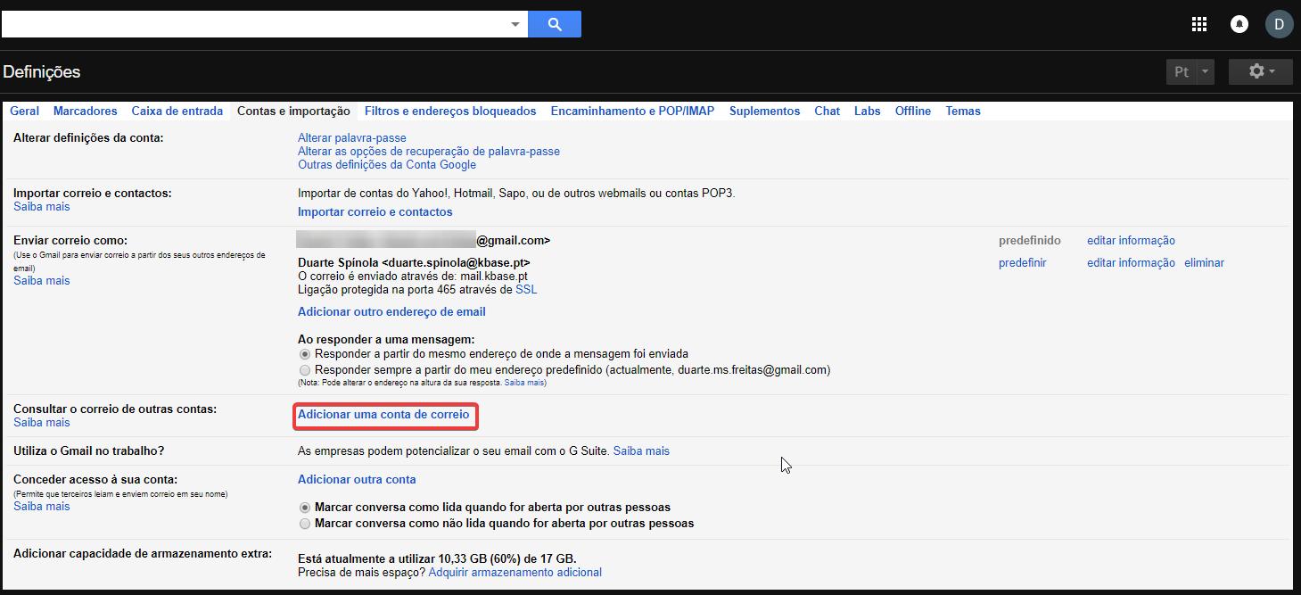 Gmail Receber Consultar outras