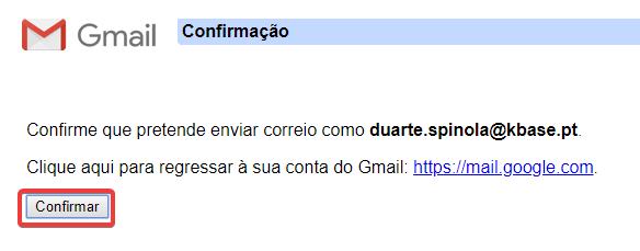 Gmail outras contas enviar como confirmar