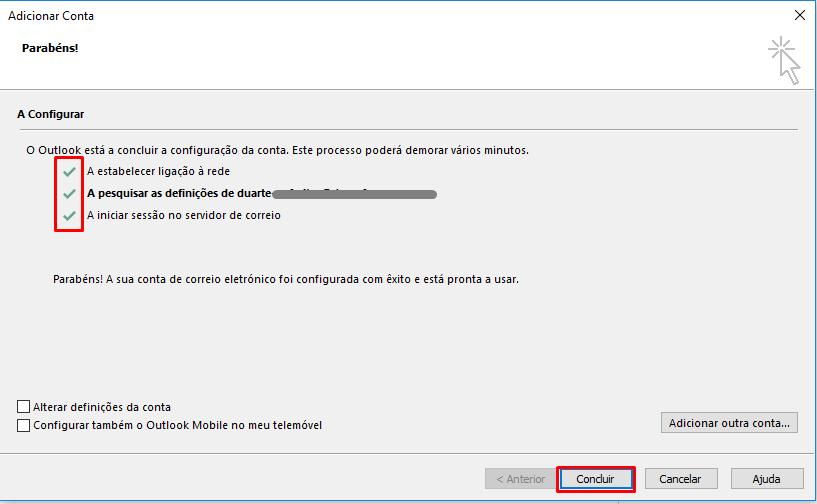 Outlook 2016 Configuração com Sucesso
