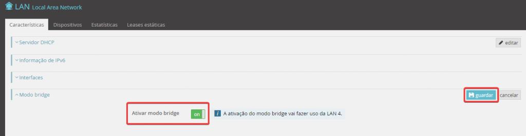 Fibergateway ativar modo bridge