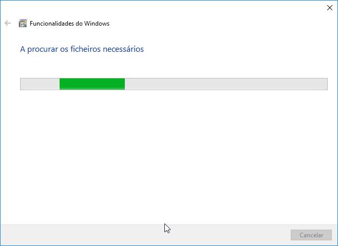 ativar ou desativar funcionalidades do windows ficheiros necessários
