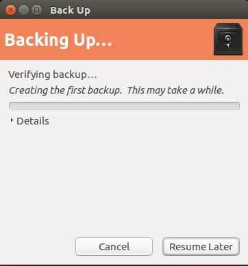 backup ubuntu backing up