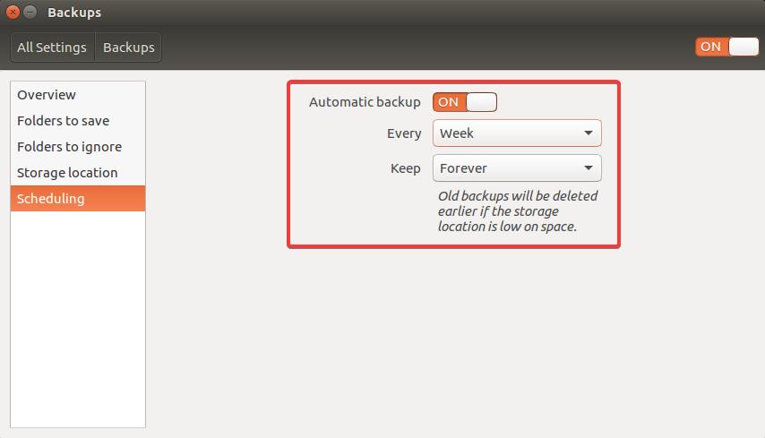 backup ubuntu scheduling