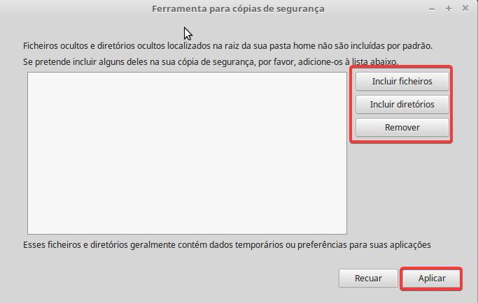 linux mint ficheiros ocultos