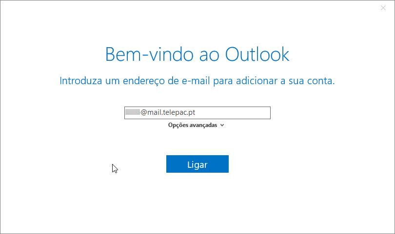 Email telepac imap adicionar conta