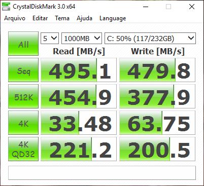 CrystalDisk Samsung SSD 850 EVO