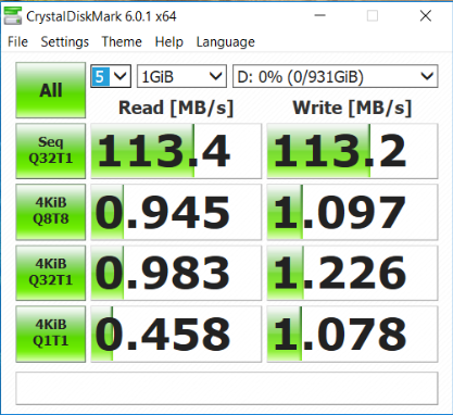 Acer Aspire F15 F5 573G 74R7 disco sata crystaldisk