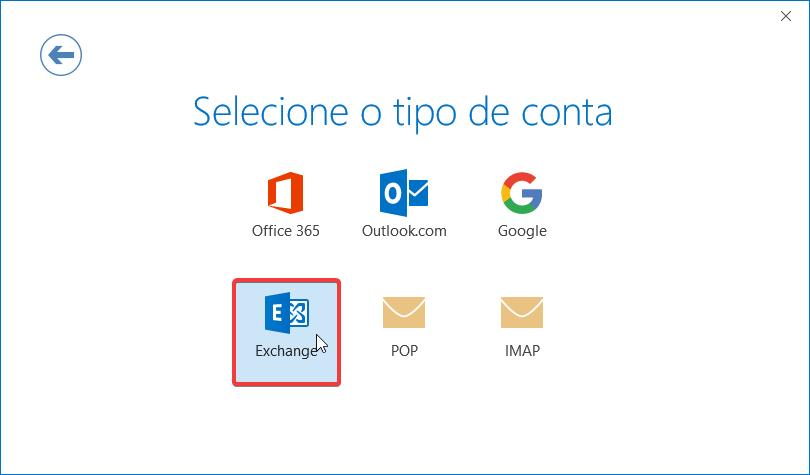 Outlook Office 365 mapi ptempresas tipo de conta