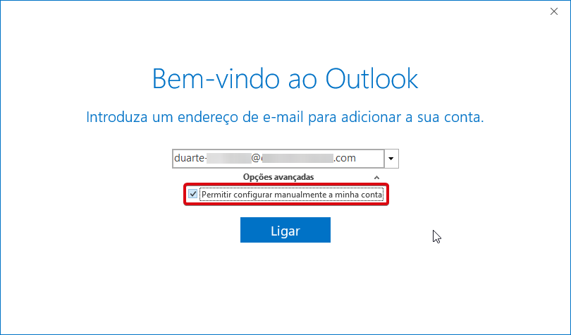 Outlook office 365 ptempresas adicionar conta