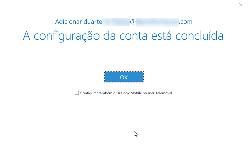 Outlook office 365 ptempresas conta concluida