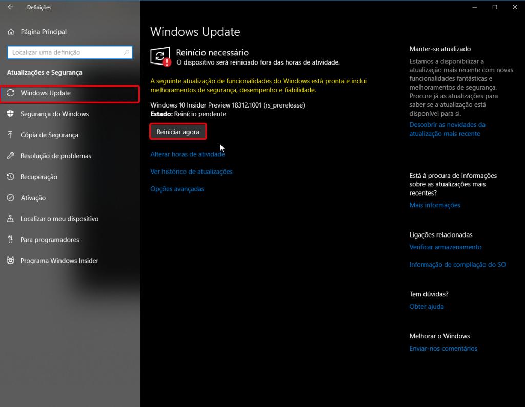 Windows 10 - Windows updade