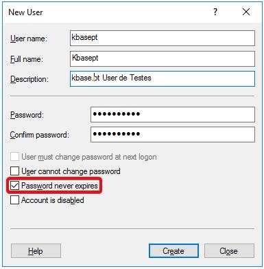 Windows Server 2016 - New User