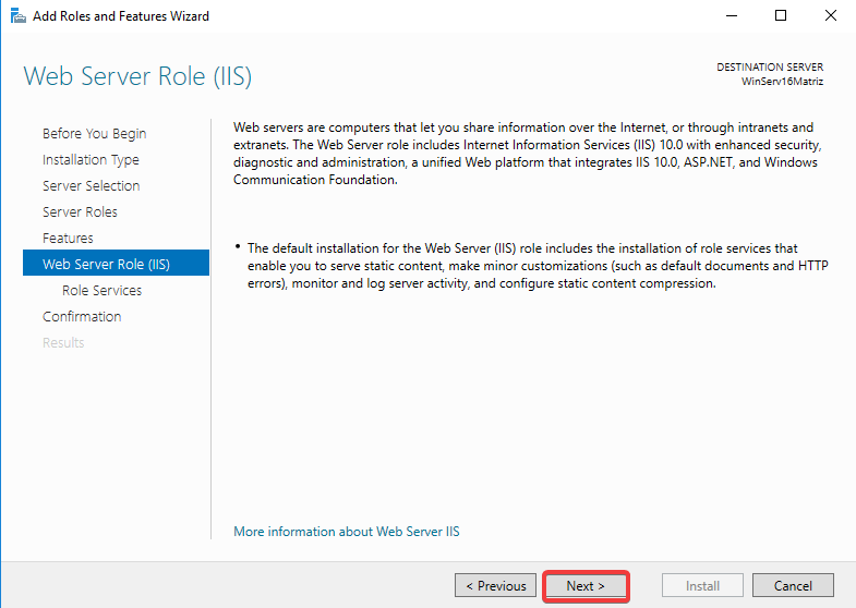 Windows Server IIS - Instalar IIS 10 - Descrição do que é o IIS