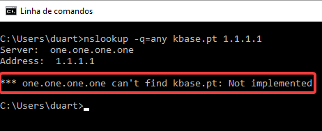 nslookup-query Any cloudflare