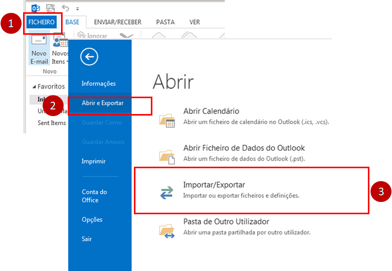 Outlook 2016 - Importar_Exportar